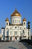 Kathedraal van Christus de Verlosser in Moskou Royalty-vrije Stock Afbeeldingen