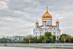 Kathedraal van Christus de Verlosser in Moskou, Rusland Stock Foto