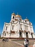Kathedraal van Christus de Verlosser in Moskou, Rusland. Royalty-vrije Stock Foto