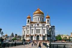 Kathedraal van Christus de Verlosser in Moskou, Rusland. Royalty-vrije Stock Afbeeldingen