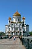 Kathedraal van Christus de Verlosser in Moskou, Rusland. Stock Afbeelding