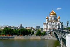 Kathedraal van Christus de Verlosser in Moskou, Rusland. Royalty-vrije Stock Afbeelding