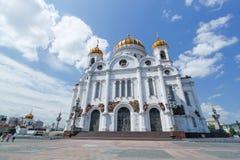 Kathedraal van Christus de Verlosser in Moskou Rusland stock foto's