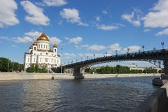 Kathedraal van Christus de Verlosser in Moskou Rusland Royalty-vrije Stock Afbeelding