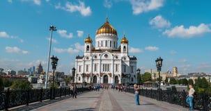 Kathedraal van Christus de Verlosser in Rusland stock video