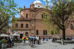 Kathedraal van Cuenca, Ecuador in een blauwe hemeldag 3d zeer mooie driedimensionele illustratie, cijfer Royalty-vrije Stock Afbeeldingen