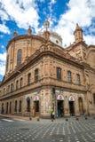 Kathedraal van Cuenca, Ecuador in een blauwe hemeldag 3d zeer mooie driedimensionele illustratie, cijfer Stock Foto