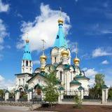 Kathedraal van de Aankondiging in Blagoveshchensk royalty-vrije stock afbeelding