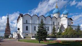 Kathedraal van de Aankondiging en de Toren Soyembika royalty-vrije stock afbeelding