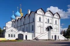 Kathedraal van de Aankondiging in Kazan het Kremlin stock afbeeldingen