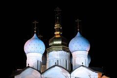 Kathedraal van de Aankondiging in Kazan het Kremlin royalty-vrije stock fotografie