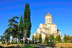 Kathedraal van de Drievuldigheid van Sameba de Heilige van Tbilisi, Georgië Stock Foto's