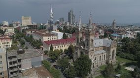Kathedraal van de Geboorte van Christus van Heilig Virgin in Batumi stock videobeelden