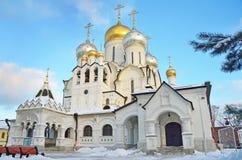 Kathedraal van de Geboorte van Christus van heilige maagdelijke Mary in Zachatievsky-klooster in Moskou royalty-vrije stock fotografie