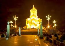 Kathedraal van de Heilige Drievuldigheid Tbilisi, Georgië Royalty-vrije Stock Foto's