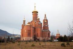 Kathedraal van de Interventie in stad vody Mineralnye Stock Afbeeldingen