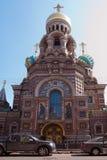 Kathedraal van de Verlosser op Gemorst Bloed. Stock Afbeeldingen