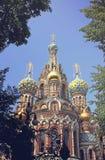 Kathedraal van de Verrijzenis op Gemorst Bloed in St Petersbur Royalty-vrije Stock Foto