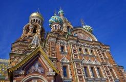 Kathedraal van de Verrijzenis van Christus in Heilige Petersburg, Rusland Kerk van de Verlosser op Bloed stock foto's
