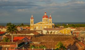 Kathedraal van Granada in Nicaragua royalty-vrije stock foto's