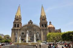 Kathedraal van Guadalajara Mexico stock foto's