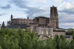 Kathedraal van Heilige Cecilia van Albi royalty-vrije stock foto