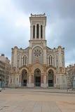 Kathedraal van Heilige Charles Borromeo in Saint-Etienne, Frankrijk Stock Fotografie