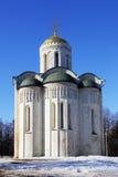 Kathedraal van Heilige Demetrius in Vladimir-stad Stock Fotografie