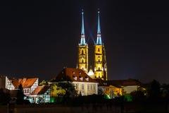 Kathedraal van heilige john doopsgezind in Wroclaw, Polen royalty-vrije stock foto