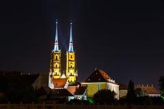 Kathedraal van heilige john doopsgezind in Wroclaw, Polen royalty-vrije stock fotografie