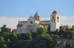 Kathedraal van heilige Kiriak Ancona, Italië royalty-vrije stock afbeeldingen