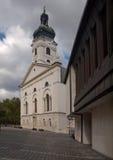 Kathedraal van Heilige Maagdelijke Mary in Gyor Royalty-vrije Stock Afbeelding
