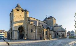 Kathedraal van Heilige Marie in Oloron - Frankrijk Stock Fotografie