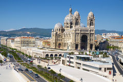 Kathedraal van Heilige Mary Major in Marseille, Frankrijk Stock Afbeelding