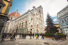 Kathedraal van Heilige Mary van de Bloem in Florence, Italië Stock Foto