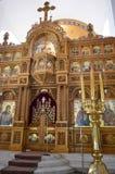 Kathedraal van Heilige Nectarios in Aegina-Eiland, Griekenland op 19 Juni, 2017 Royalty-vrije Stock Foto's