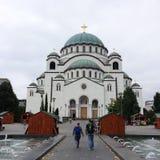 Kathedraal van Heilige Sava, Belgrado stock fotografie