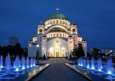 Kathedraal van Heilige Sava in Belgrado royalty-vrije stock foto's