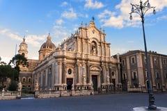 Kathedraal van het Agaat van Heilige, Catanië, Italië, Sicilië royalty-vrije stock foto's