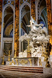 Kathedraal van het Altaarbeeldhouwwerk van Chartres in Frankrijk Stock Afbeeldingen