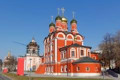 Kathedraal van het pictogram van de Moeder van Gods` Teken ` op Varvarka-straat in Moskou Royalty-vrije Stock Afbeeldingen