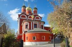 Kathedraal van het pictogram van de Moeder van God het Teken in Moskou, Rusland Stock Afbeelding