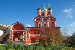 Kathedraal van het pictogram van de Moeder van God het Teken in Moskou, Rusland Royalty-vrije Stock Afbeeldingen