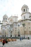 Kathedraal van het Vierkant van Cadiz en van de Kathedraal, Spanje Stock Afbeeldingen