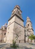 Kathedraal van koloniaal centrum michoacan Morelia stock afbeelding