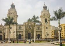 Kathedraal van Lima Facade Stock Foto