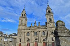 Kathedraal van Lugo stock afbeeldingen