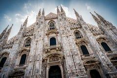 Kathedraal van Milaan in Italië Stock Fotografie