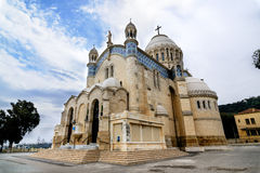 Kathedraal van Notre-dame d'Afrique, Algiers Algerije stock afbeelding