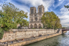 Kathedraal van Notre Dame, Parijs, Frankrijk Stock Foto